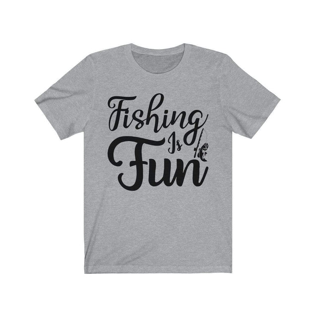 Fishing is Fun T-Shirt Athletic Heather / L  - VPI Shop