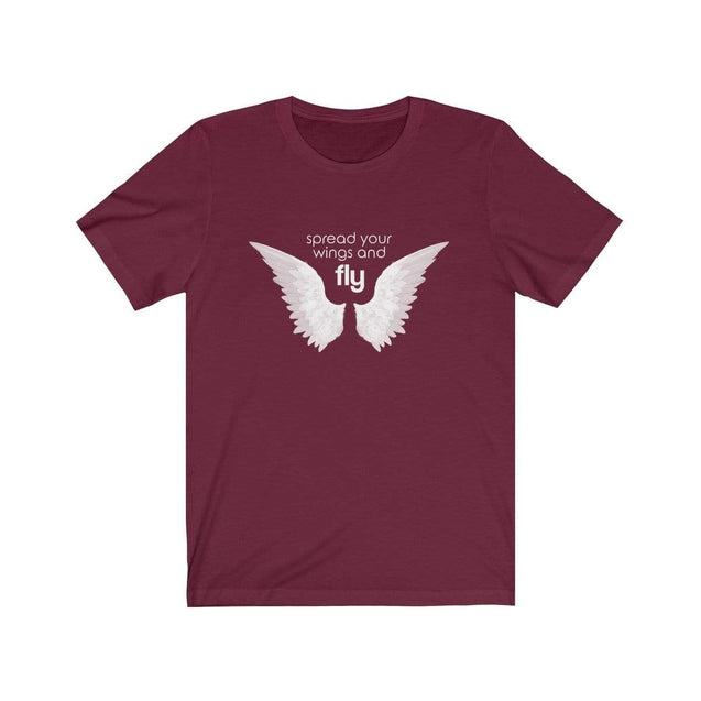 Fly black Unisex T-Shirt Maroon / S  - VPI Shop