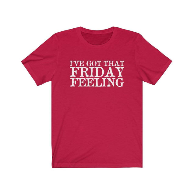 Friday Feeling T-Shirt Red / S  - VPI Shop