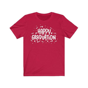 Happy Graduation T-Shirt Red / L  - VPI Shop