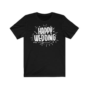 Happy Wedding T-Shirt Black / L  - VPI Shop
