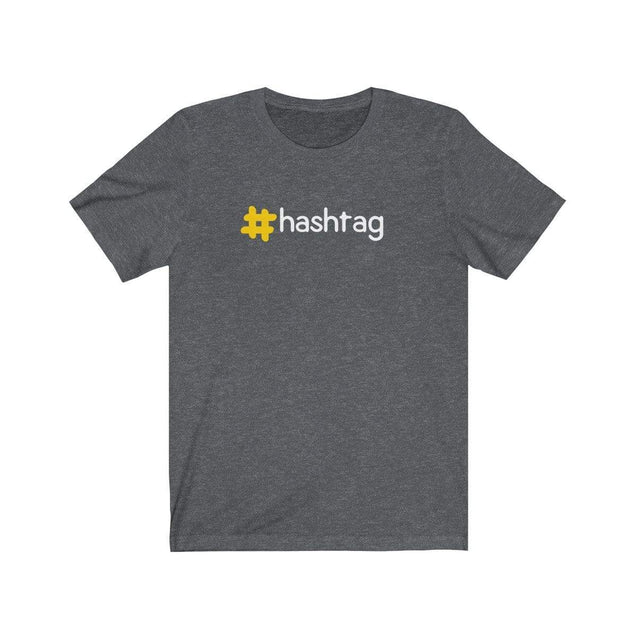 Hashtag T-Shirt Dark Grey Heather / S  - VPI Shop