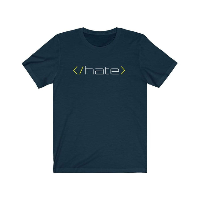 Hate T-Shirt Navy / S  - VPI Shop