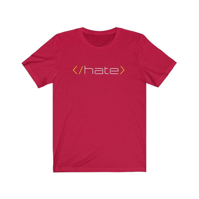 Hate T-Shirt Red / S  - VPI Shop