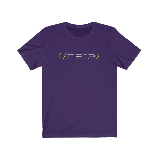 Hate T-Shirt Team Purple / S  - VPI Shop