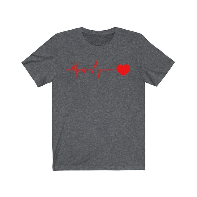 Heartbeat T-Shirt Dark Grey Heather / S  - VPI Shop