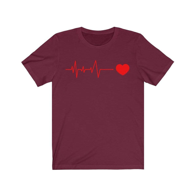 Heartbeat T-Shirt Maroon / S  - VPI Shop