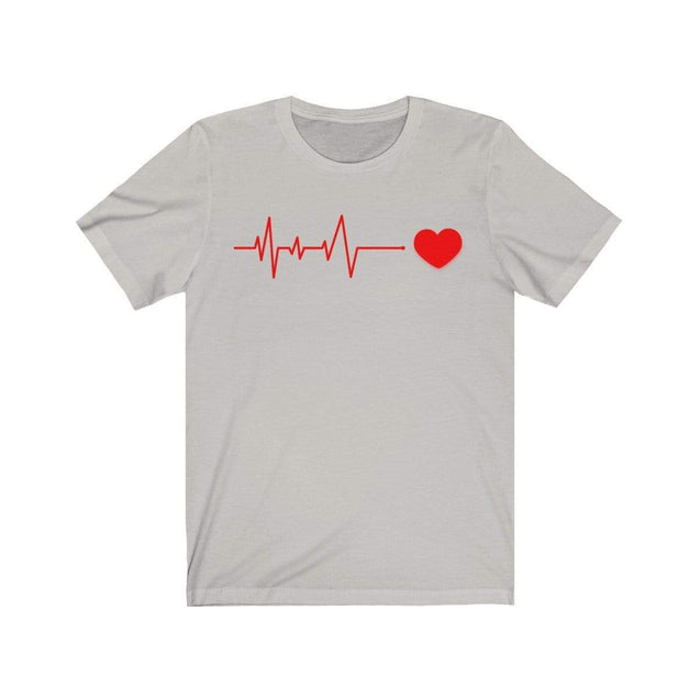 Heartbeat T-Shirt Silver / S  - VPI Shop