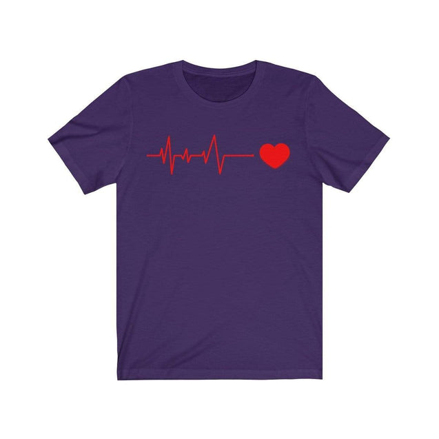 Heartbeat T-Shirt Team Purple / S  - VPI Shop