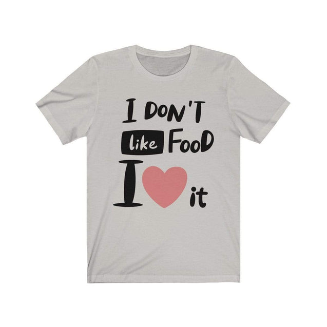I Love Food T-Shirt Silver / S  - VPI Shop