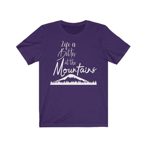 Life at the mountains T-Shirt Team Purple / L  - VPI Shop