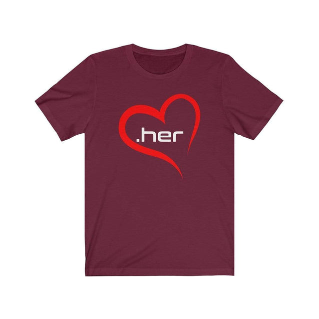 Love Her T-Shirt Maroon / S  - VPI Shop