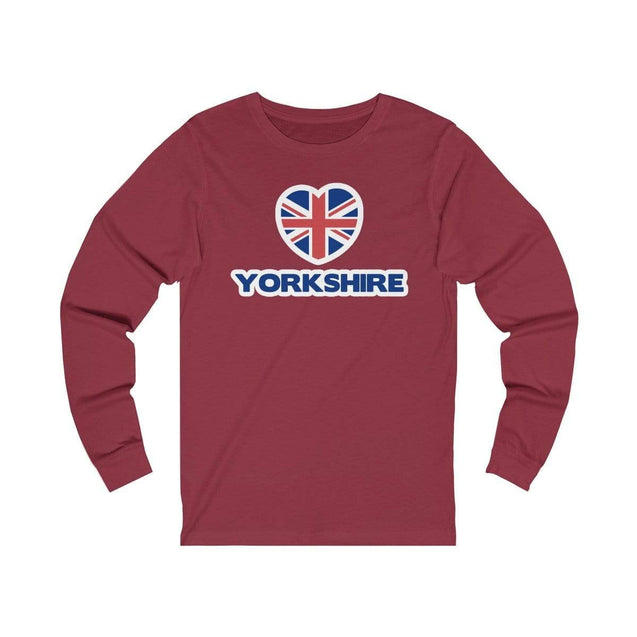 Love Yorkshire Long Sleeve T-Shirt Cardinal / L  - VPI Shop