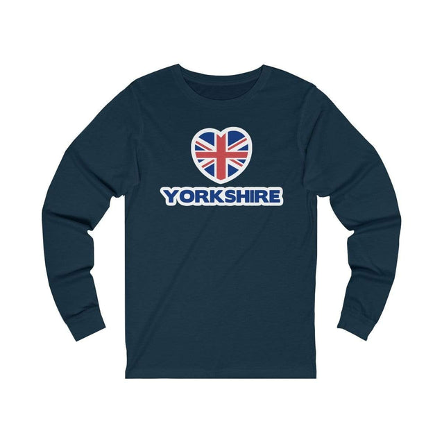 Love Yorkshire Long Sleeve T-Shirt Navy / S  - VPI Shop