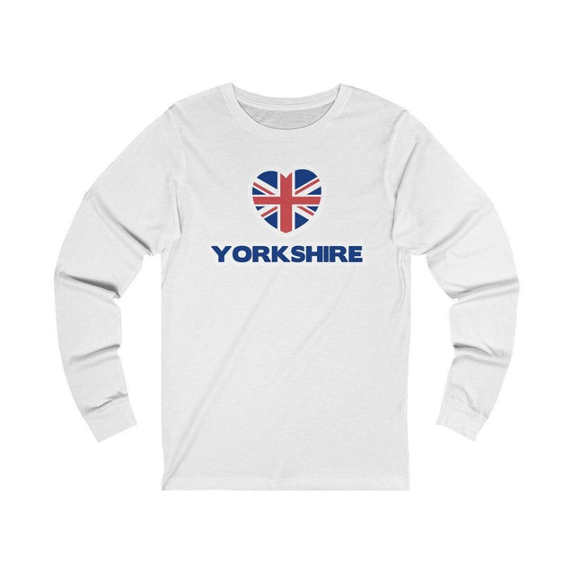 Love Yorkshire Long Sleeve T-Shirt White / S  - VPI Shop