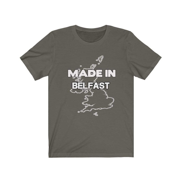 Made in Belfast Unisex T-Shirt Army / S  - VPI Shop