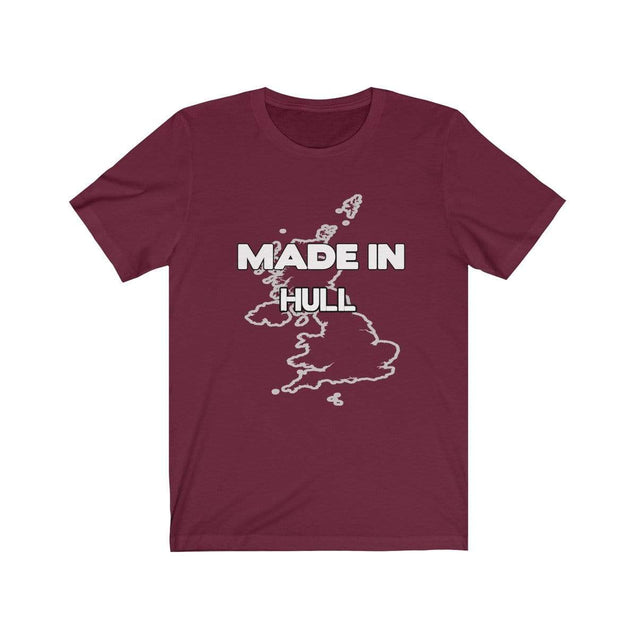 Made in Hull Unisex T-Shirt Maroon / S  - VPI Shop