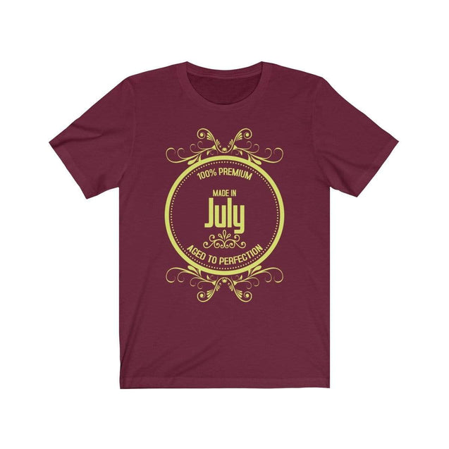 Made in July T-Shirt Maroon / S  - VPI Shop