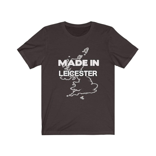 Made in Leicester Unisex T-Shirt Chocolate/Brown / S  - VPI Shop