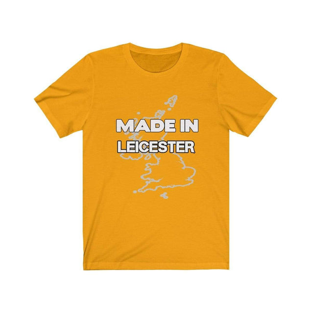 Made in Leicester Unisex T-Shirt Gold / S  - VPI Shop