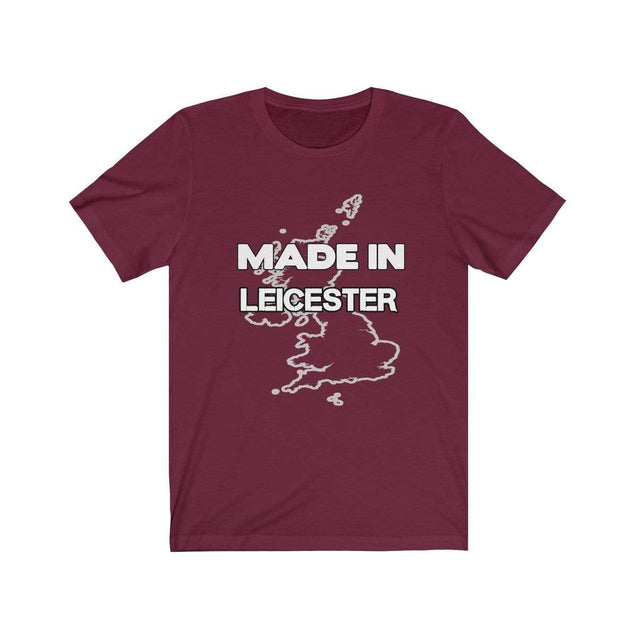 Made in Leicester Unisex T-Shirt Maroon / S  - VPI Shop