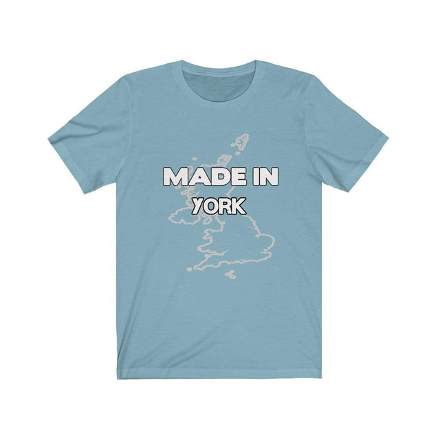 Made in York Unisex T-Shirt Baby Blue / S  - VPI Shop