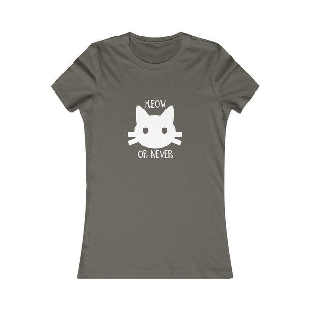 Meow or never black Women's T-Shirt Army / S  - VPI Shop