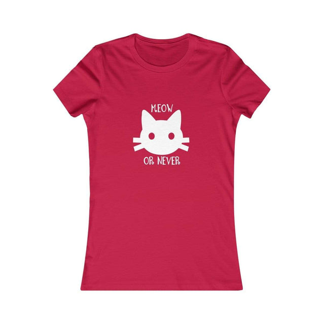 Meow or never black Women's T-Shirt Red / S  - VPI Shop