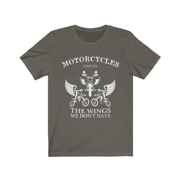Motorcycles give us wings T-Shirt Army / S  - VPI Shop