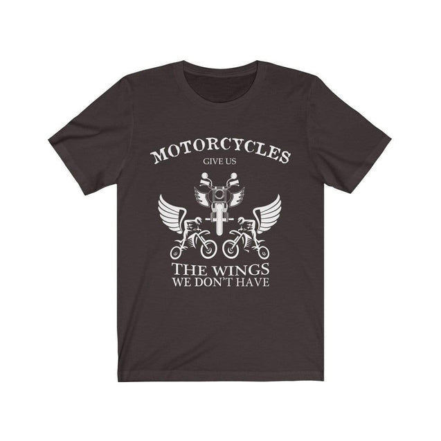 Motorcycles give us wings T-Shirt Chocolate/Brown / S  - VPI Shop