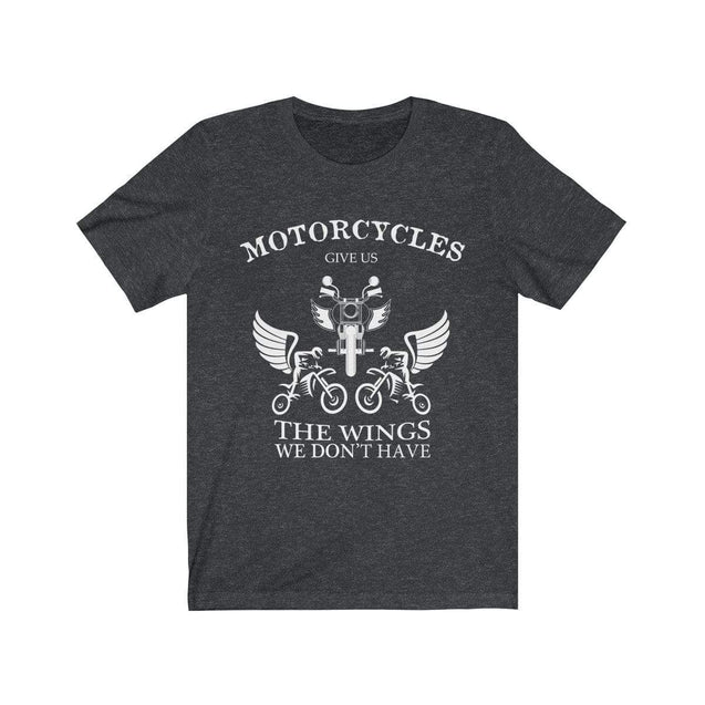 Motorcycles give us wings T-Shirt Dark Grey Heather / S  - VPI Shop