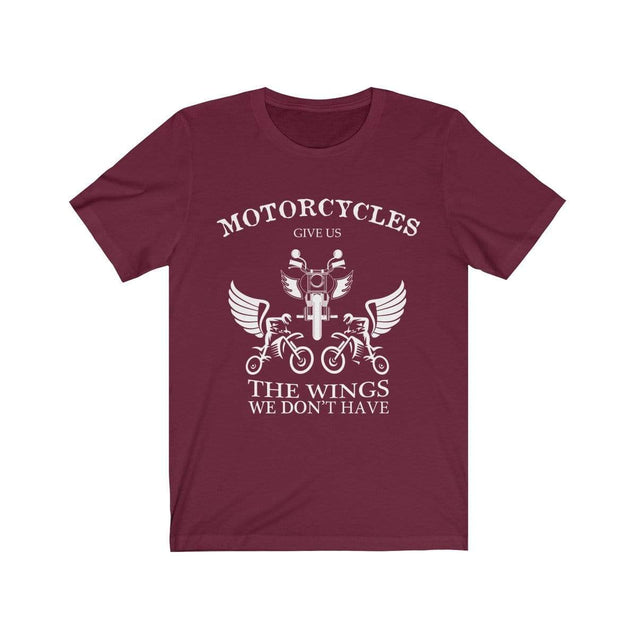 Motorcycles give us wings T-Shirt Maroon / S  - VPI Shop