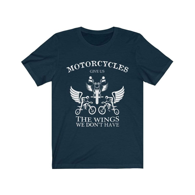 Motorcycles give us wings T-Shirt Navy / S  - VPI Shop