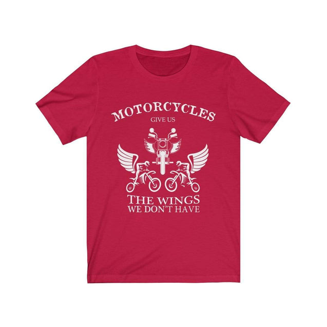 Motorcycles give us wings T-Shirt Red / S  - VPI Shop
