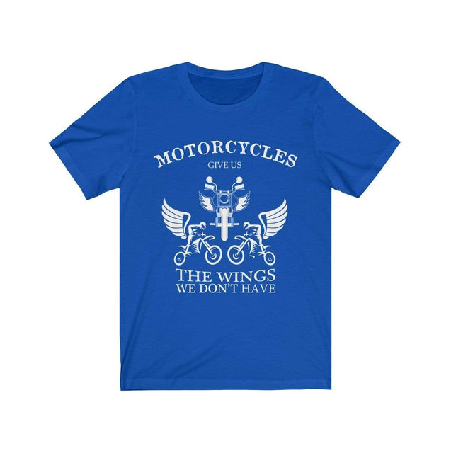 Motorcycles give us wings T-Shirt True Royal / S  - VPI Shop