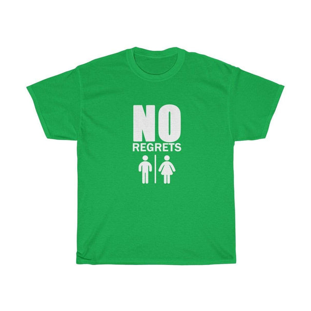 No regrets Black Unisex T-Shirt Irish Green / S  - VPI Shop