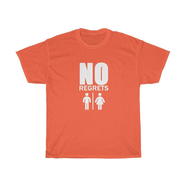 No regrets Black Unisex T-Shirt Orange / S  - VPI Shop