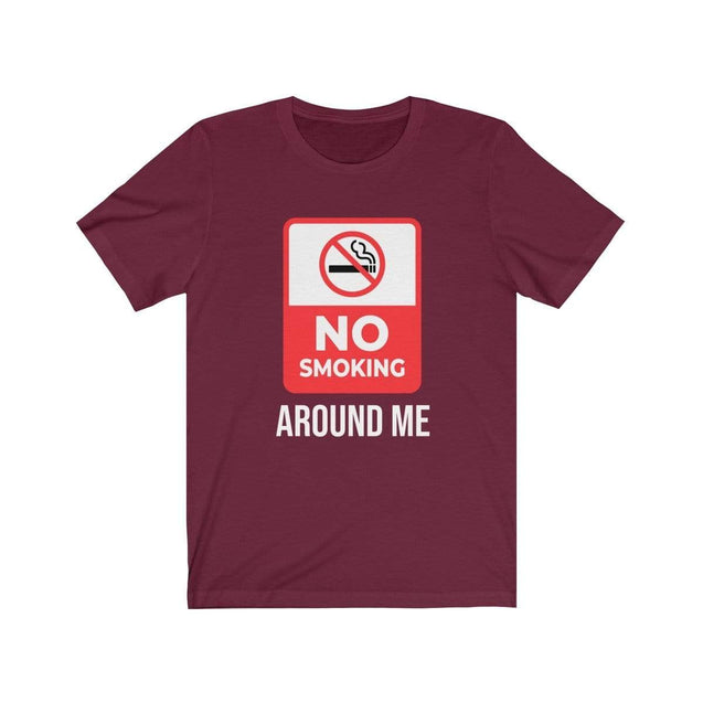 No smoking T-Shirt Maroon / S  - VPI Shop