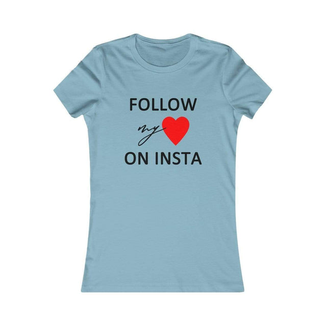 On Insta Women's T-Shirt Baby Blue / S  - VPI Shop