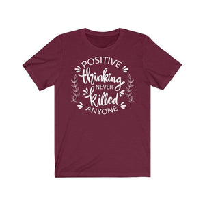 Positive Thinking T-Shirt Maroon / L  - VPI Shop