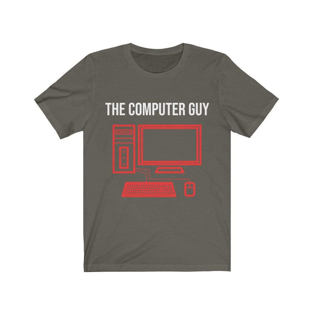The computer guy T-Shirt Army / S  - VPI Shop