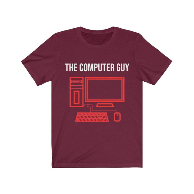 The computer guy T-Shirt Maroon / S  - VPI Shop