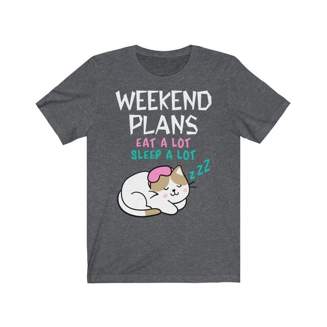 Weekend Plans T-Shirt Dark Grey Heather / S  - VPI Shop