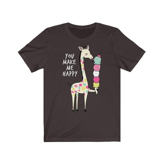 You Make Me Happy T-Shirt Chocolate/Brown / S  - VPI Shop