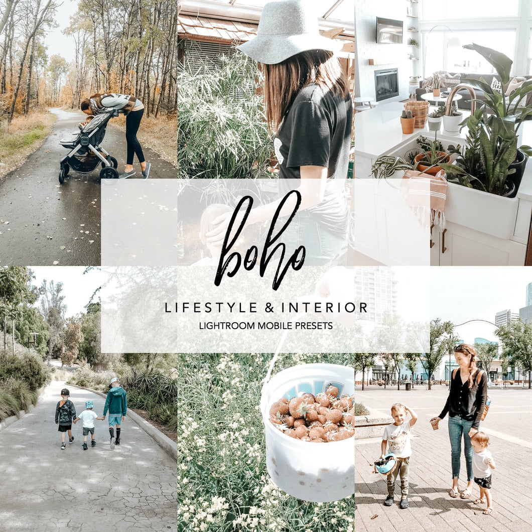 BOHO Mobile Lightroom Preset