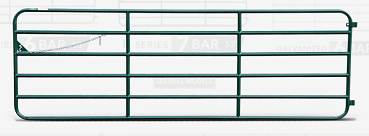 Gate, 14' - 6 Bar Diamond Gate -Green