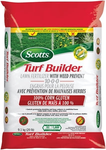 Turf Builder 30420 Lawn Food with Weed Prevent, 100% Corn Gluten, 9 kg