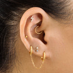 This seam ring is a small gold hoop that measures at 8mm.