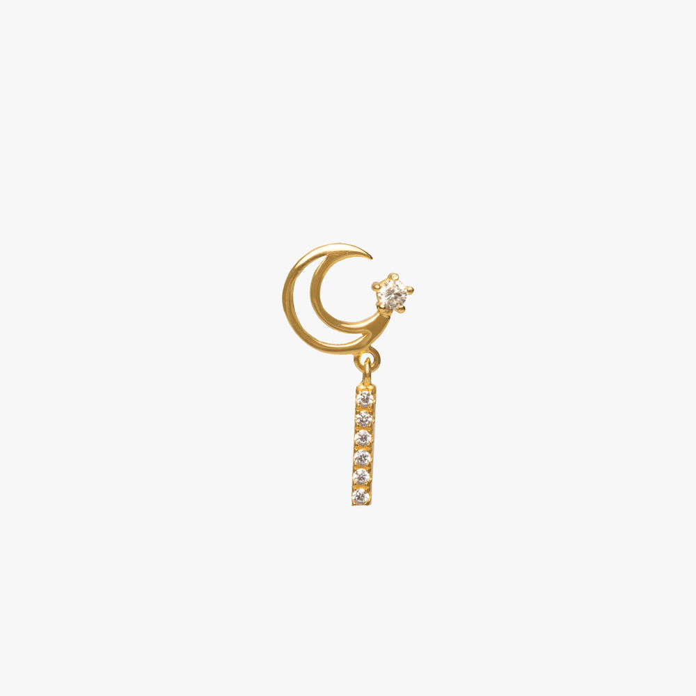 Crescent Moon Dangle