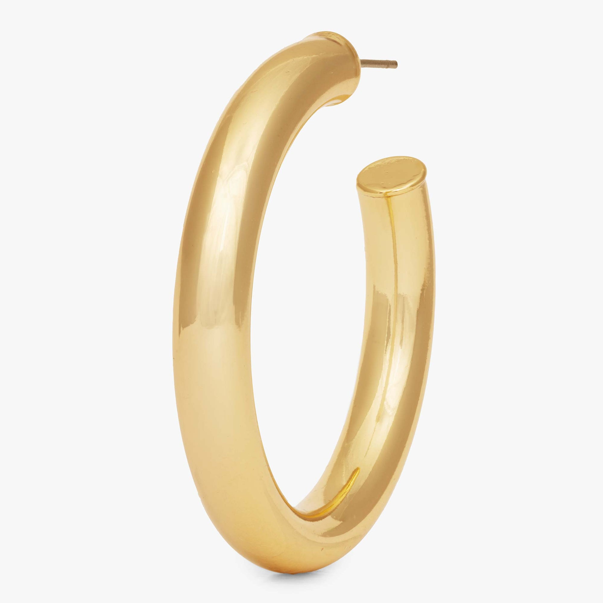 Large hollow tube-like hoop. color:gold